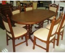 «Гірне-1» (160(200) x 94 см) — овальний обідній стіл із натурального дерева