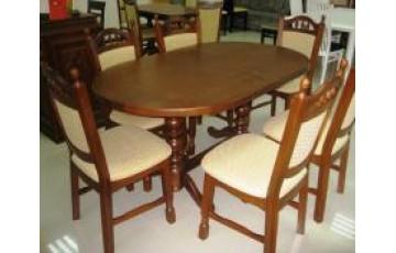 «Гирне-1»  (160(200) x 94 см) — овальный обеденный стол из натурального дерева