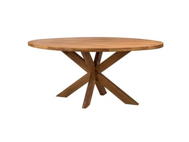 Овальний стіл «Серфер» з масиву дерева (ясена, дуба) (180×95×3 см)