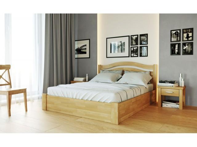 Афіна Нова з підйомним механізмом: дерев'яне ліжко з масиву буку
