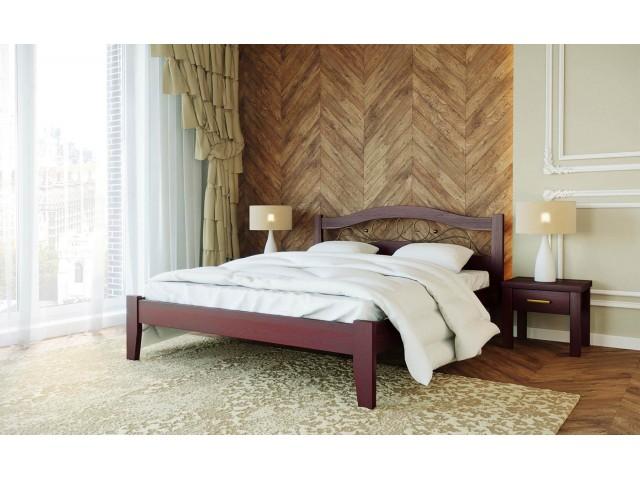 Афіна 1: двоспальне ліжко з масиву буку