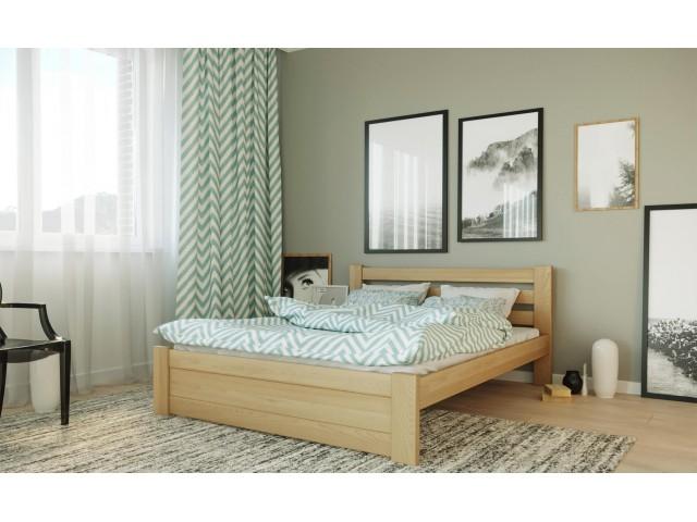 Жасмін: зручне дерев'яне ліжко (буковий щит)