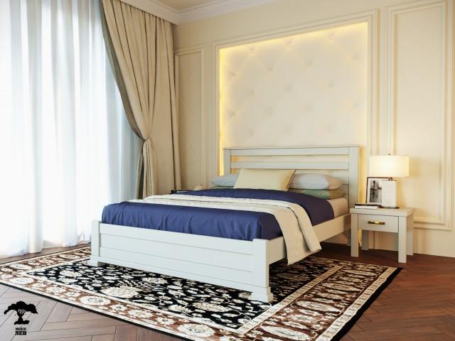 Сучасне ліжко «Лорд» з масиву бука