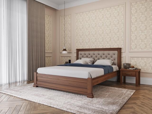 М'яке узголів'я та вишуканий дизайн: ліжко «Лорд М50» з масиву бука
