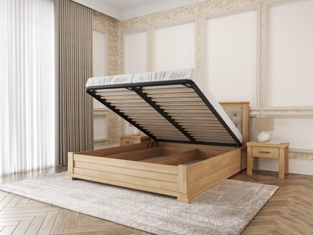 Дерев'яне ліжко «Лорд М50» зі зручним підйомним механізмом
