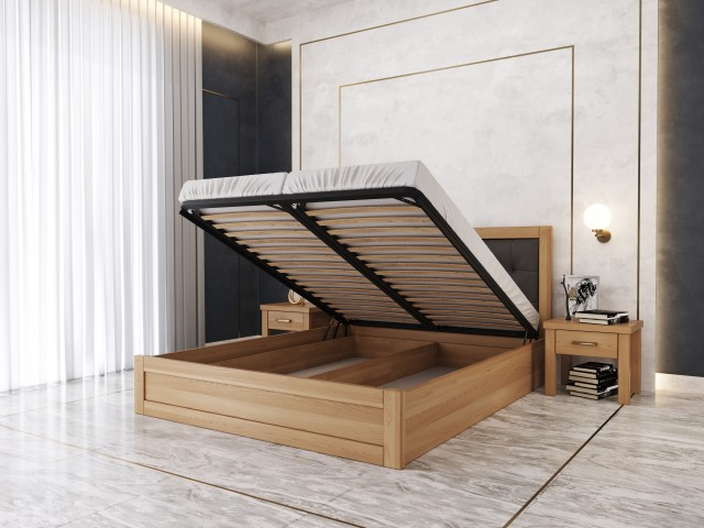 «Мадрид М50»: дерев'яне ліжко з підйомним механізмом