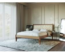Ліжко «Монако М50» з масиву бука з високим м'яким узголів'ям