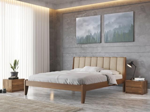 «Токіо М50»: дерев'яне ліжко зі стриманим дизайном