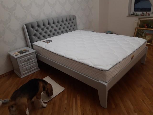 Дерев'яне ліжко «Токіо Нове»: лаконічний дизайн з м'яким узголів'ям