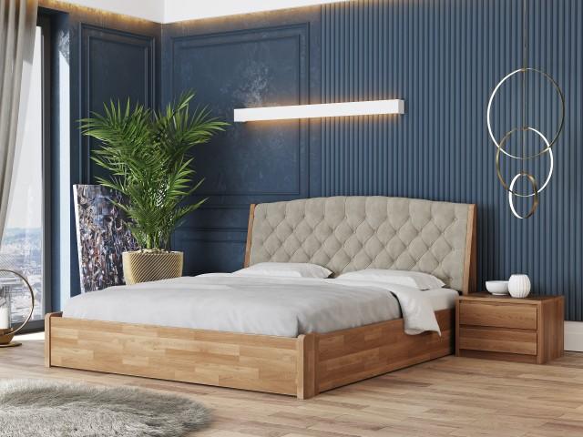 Масивне дерев'яне ліжко «Токіо Нове» з підйомною рамою
