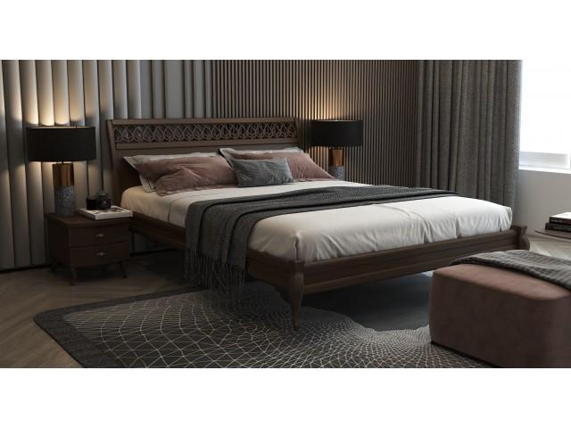 Ліжко «Дублін декор» з суцільного масиву вільхи