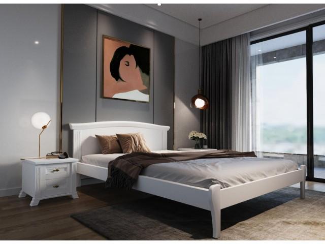 Елегантне ліжко «Лозанна» з суцільного масиву дерева (вільха)