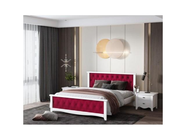 Вишукане двоспальне ліжко «Модена» з масиву дерева (вільха)