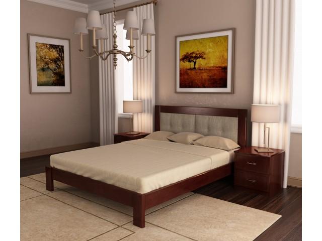 «Неаполь» — дерев'яне двоспальне ліжко з м'яким узголів'ям
