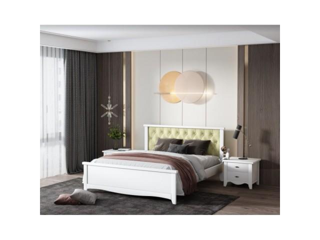 Вишукане ліжко «Ніцца» з масиву дерева (вільха)
