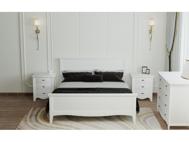 Дерев'яне ліжко «Рим»: стриманий дизайн та висока якість