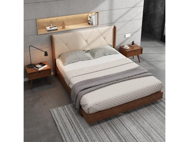 Двоспальне ліжко «Сієна» з суцільного масиву вільхи