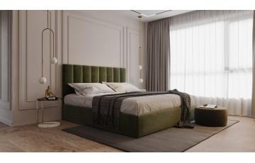 Вишукане м'яке ліжко «Ельба» з вертикальною стяжкою