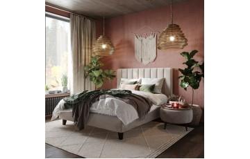 Елегантне м'яке двоспальне ліжко «Ельба» на ніжках