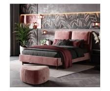 Оригінальне ліжко «Невада» з високим м'яким узголів'ям