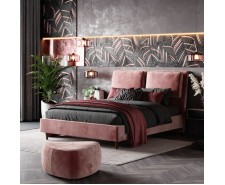 Величне двоспальне м'яке ліжко «Невада» на ніжках