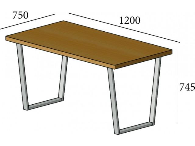Стіл обідній Бінго Лайт зі стільницею із ДСП 80 на 160 см (Метал Дизайн)