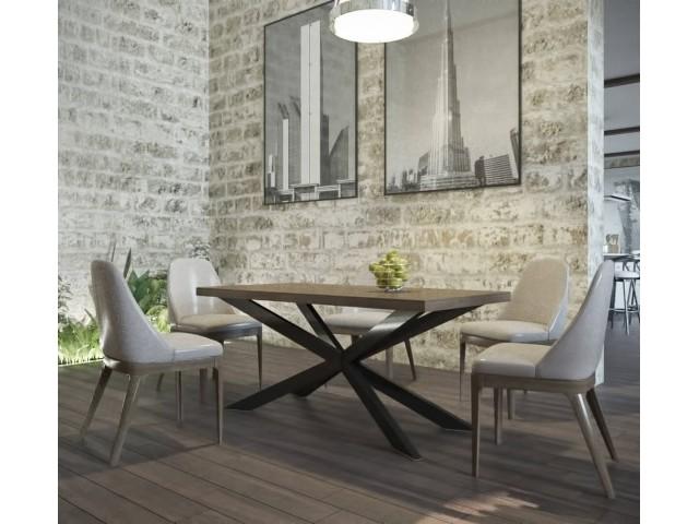 Ікс - дерев'яний ЛОФТ стіл сучасного дизайну 80+160 см (Метал Дизайн)