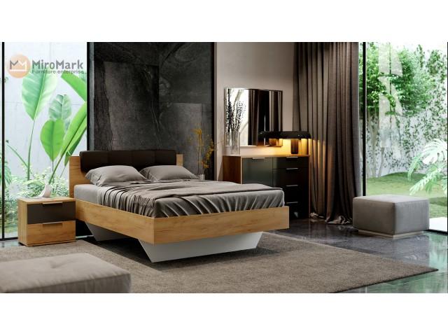 Ліжко дерев'яне двоспальне Луна (Luna) м'яка без тумб