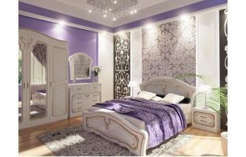 Ліжко дерев'яне двоспальне Альба з підйомним механізмом (МДФ)