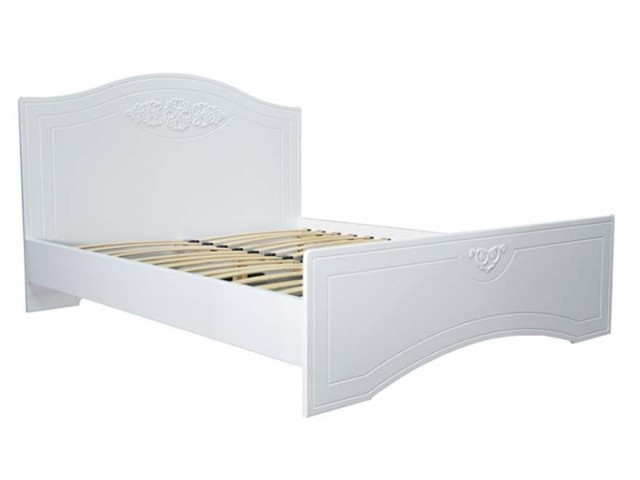 Ліжко дерев'яне двоспальне Анжеліка з висувними ящиками (МДФ)