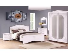 Ліжко дерев'яне двоспальне Анжеліка (МДФ)