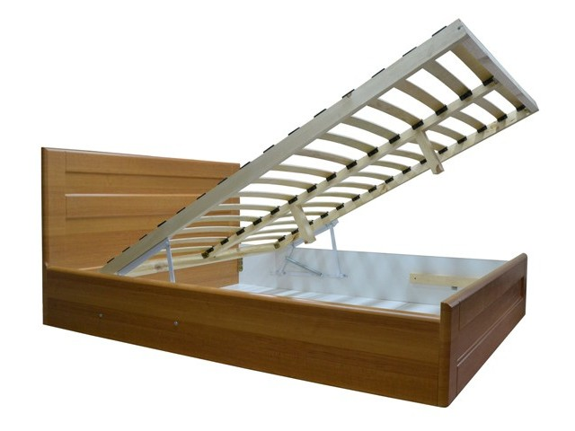 Ліжко дерев'яне двоспальне Кармен з підйомним механізмом (МДФ)