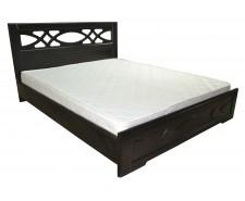 Ліжко дерев'яне двоспальне Ліана з підйомним механізмом (МДФ)