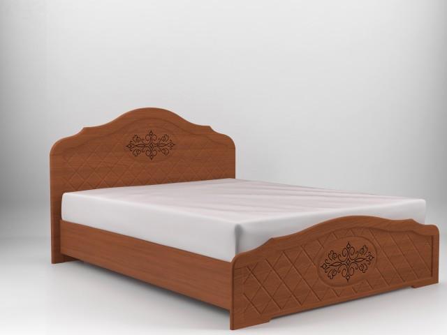 Ліжко дерев'яне двоспальне Лючія з підйомним механізмом (МДФ)