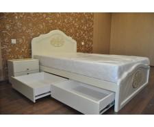 Ліжко дерев'яне одно/двоспальне Лючія з висувними ящиками (МДФ)