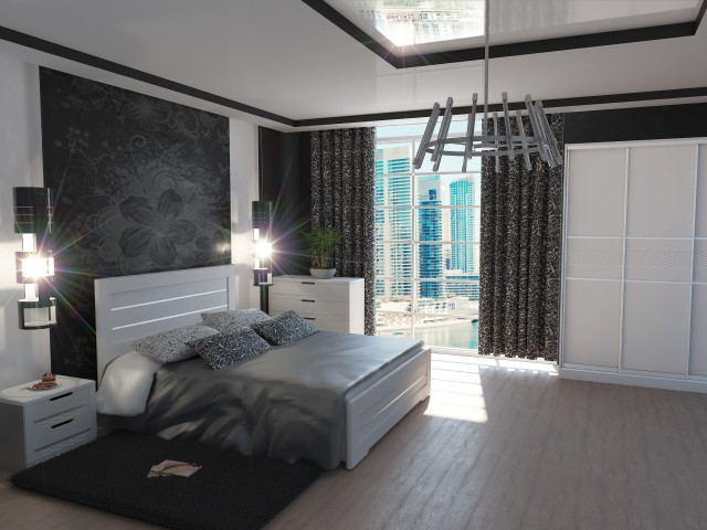 Ліжко дерев'яне одно/двоспальне Соломія (МДФ)