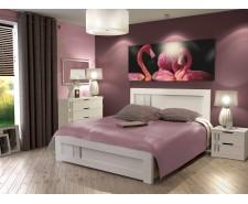 Ліжко дерев'яне одно/двоспальне Зоряна з висувними ящиками (МДФ)