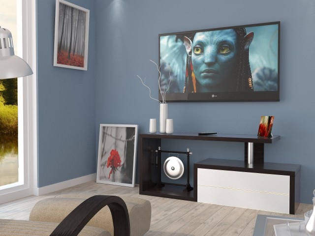 ТВ тумба дерев'яна TV-line 02 (МДФ)