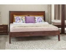 Ліжко дерев'яне двоспальне Сіті Преміум (City Premium) фільонка без узніжжя (Бук, щит)