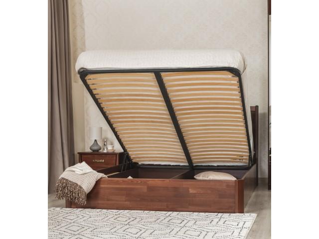 Ліжко дерев'яне двоспальне Сіті Преміум М'яка (City Premium) з підйомним механізмом (Бук, щит)