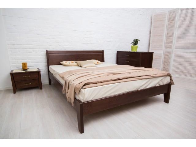 Ліжко дерев'яне двоспальне Сіті (City) без узніжжя (Бук, щит)