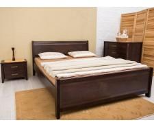 Ліжко дерев'яне двоспальне Сіті (City) з узніжжям (Бук, щит)