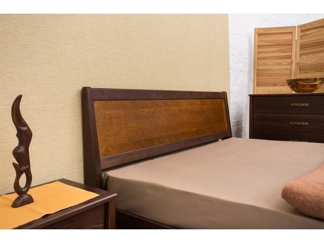 Ліжко дерев'яне двоспальне Сіті (City) з підйомною рамою (Бук, щит)
