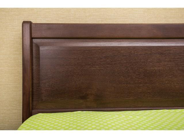 Ліжко дерев'яне двоспальне Сіті (City) з висувними ящиками (Бук, щит)