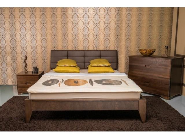 Ліжко дерев'яне двоспальне Делі (Deli) (Бук, щит)