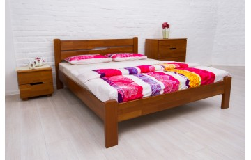 Кровать деревянная двуспальная Айрис (Iris) без изножья (Бук, щит)
