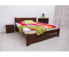 Ліжко дерев'яне двоспальне Айріс (Iris) з узніжжям (Бук, щит)