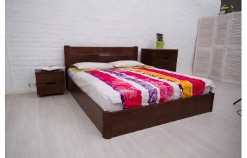 Ліжко дерев'яне двоспальне Айріс (Iris) з підйомним механізмом (Бук, щит)