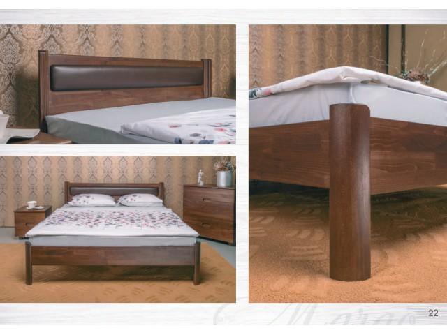 Ліжко дерев'яне двоспальне Марго (Margo) без узніжжя (Бук, щит)