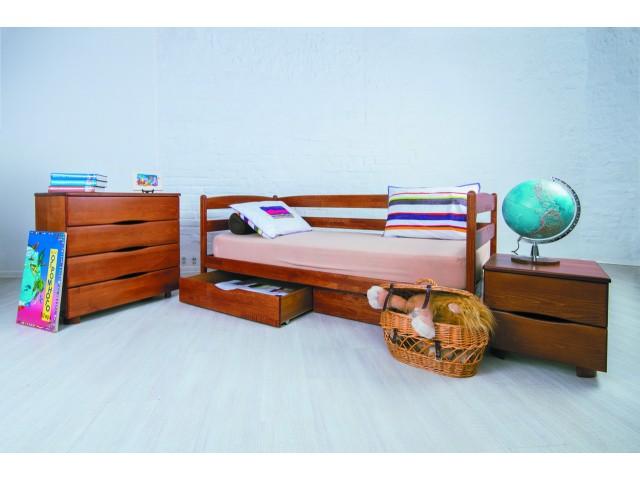 Ліжко дерев'яне дитяче Маріо (Mario) (Бук, щит)